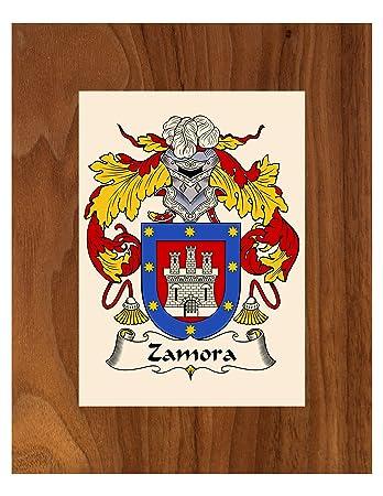 Amazon.com: Zamora escudo de armas/Zamora escudo de familia ...