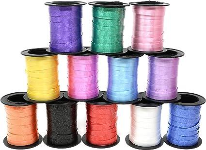 Pack Of 6 Multicolour Metallic Gift Wrap 5mm Curling Ribbon 60 Meters