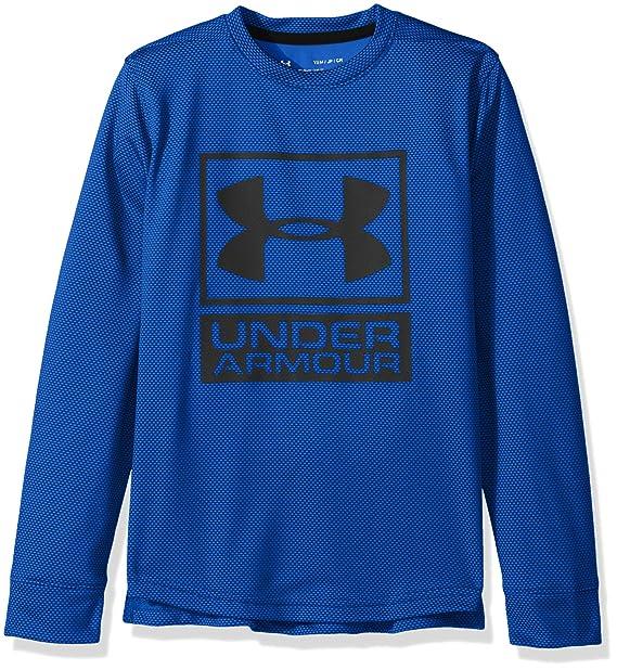 6c053ea0 Amazon.com: Under Armour Boys' Textured Tech Crew: Clothing