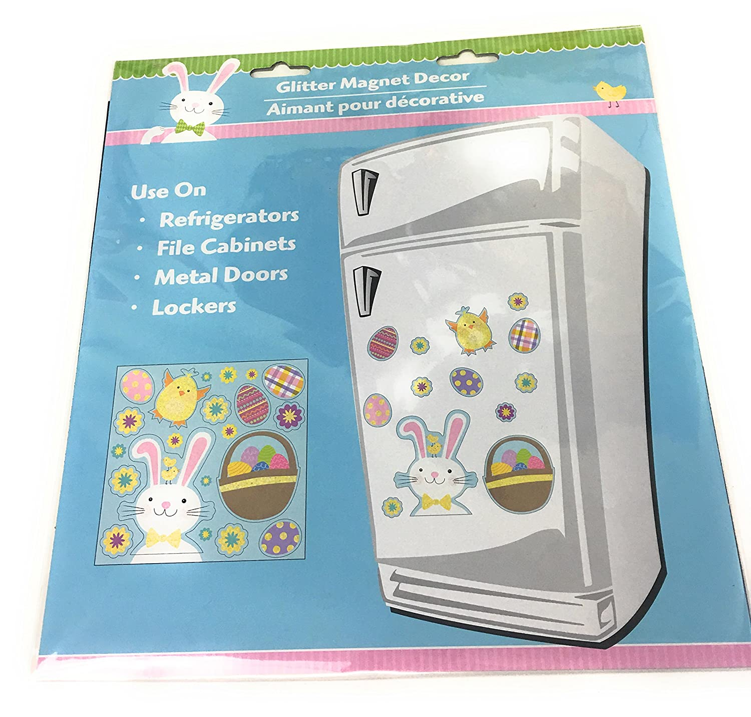 Amazon.com: Easter Bunny Glitter Magnet Set of 13: Kitchen & Dining