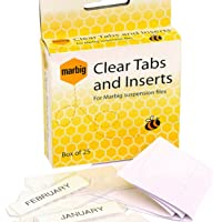 MARBIG(R) 81002 Suspension Files TABS and Inserts 25BX, TABS and Inserts 25BX