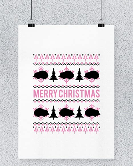 Compra Hippowarehouse Merry Hedgehog Christmas Cartel ...