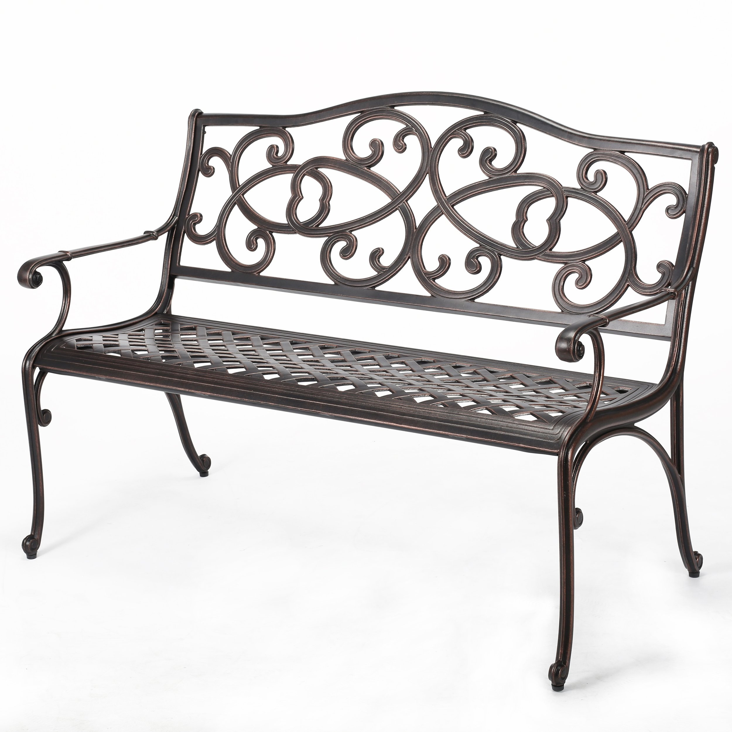 curved ideas garden home teak bench metal design