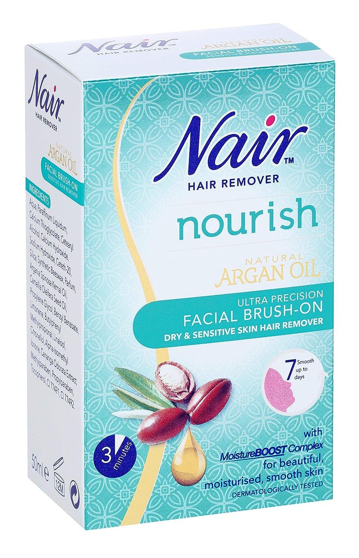 Nair Brush-sensible en el removedor del pelo, facial 50ml: Amazon.es: Salud y cuidado personal