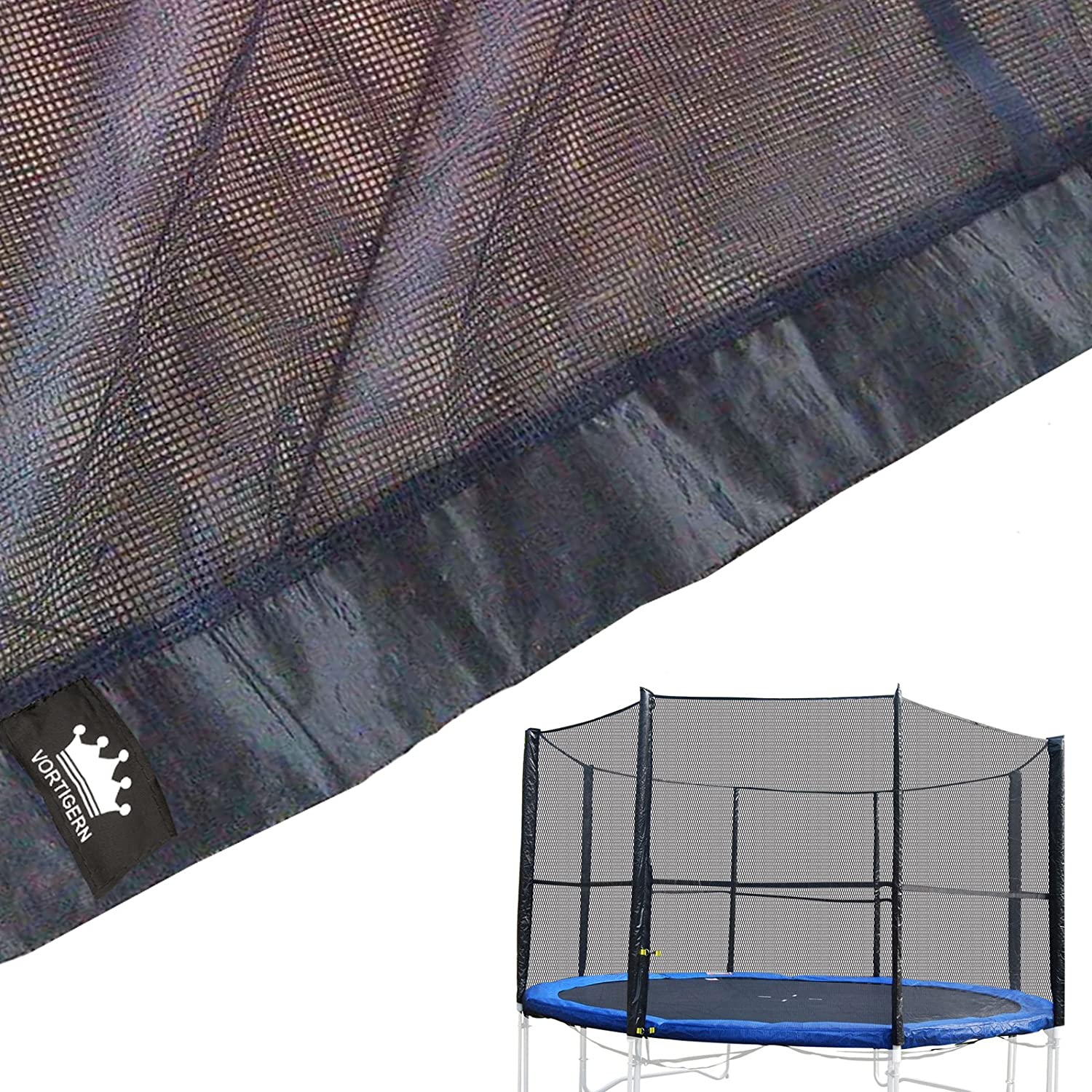 Vortigern Replacement Safety Netting for 10ft Diameter EIGHT pole Trampolines NET10