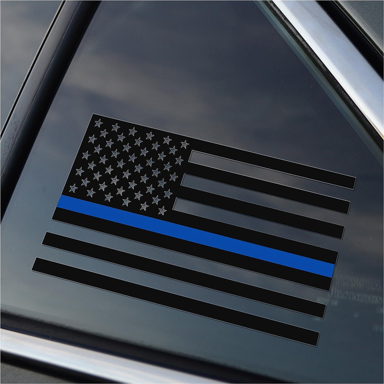 Thin Blue Line Police Support Vinyl Car Window Decal Sticker