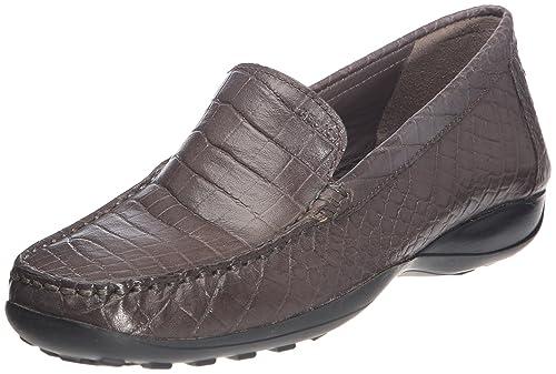 Geox D WINT.EURO 2 B - Mocasines de Piel para mujer Gris Size: 37: Amazon.es: Zapatos y complementos