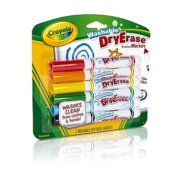 amazon com crayola washable dry erase markers art tools 6 ct