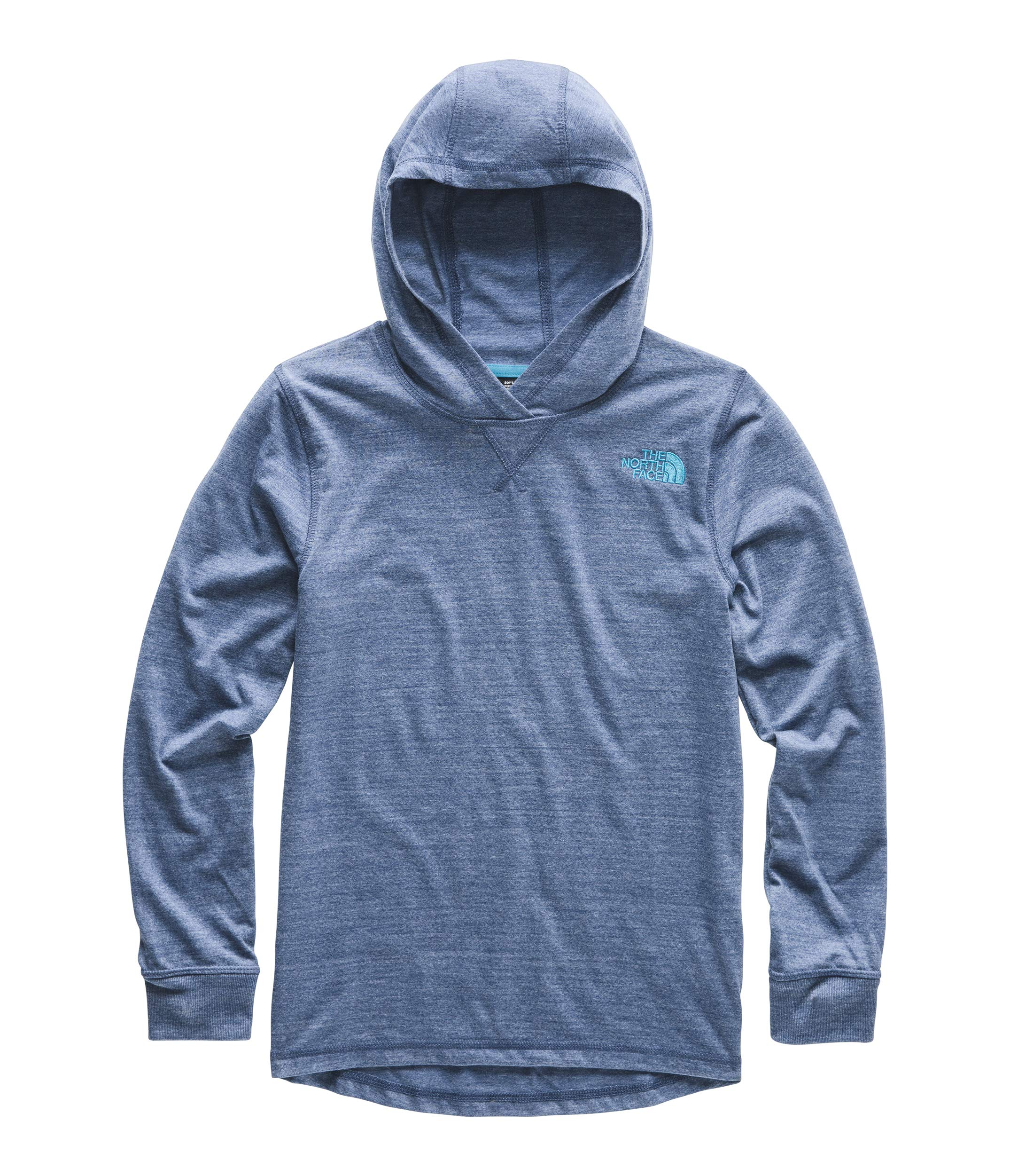 The North Face Kids Boy's Tri-Blend Pullover Hoodie (Little Kids/Big Kids) Shady Blue Heather Small