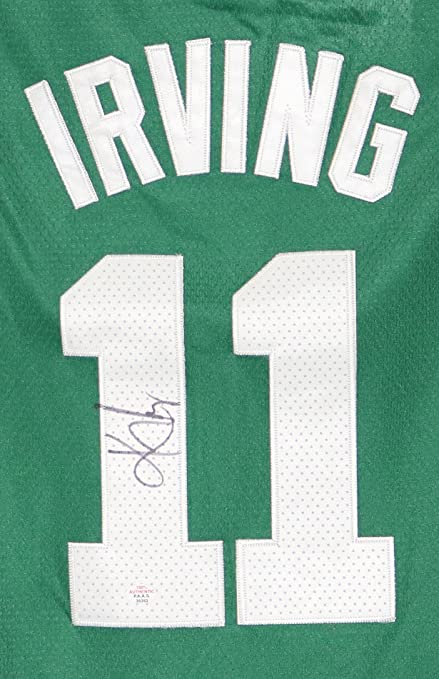 3a63777f38f Kyrie Irving Boston Celtics Signed Autographed Green  11 New Style Jersey  PAAS COA