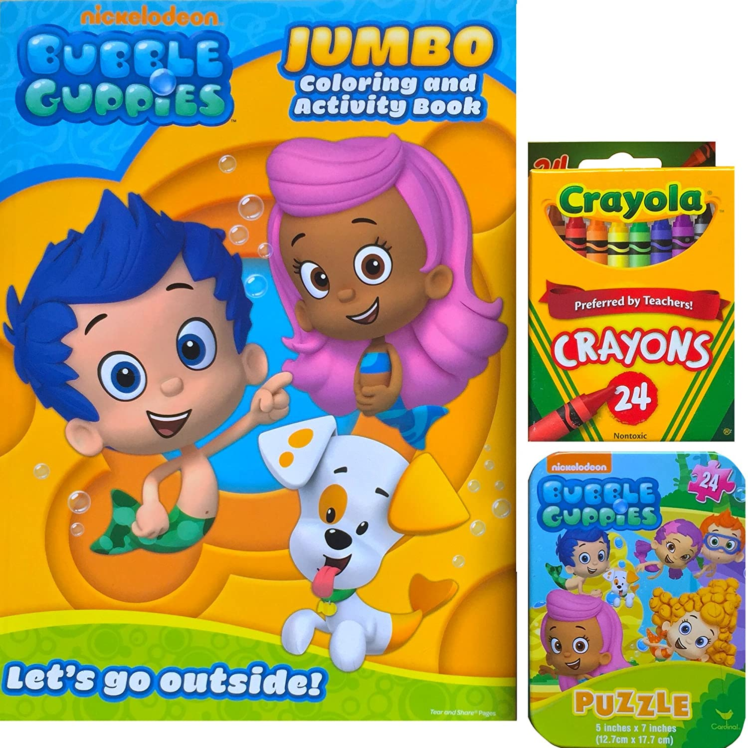 Amazon Bubble Guppies Jumbo Coloring and Activity Book with