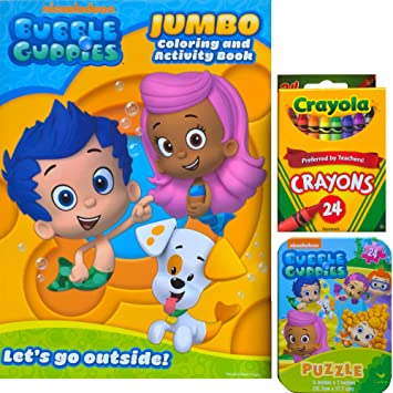 bubble guppies jumbo coloring and activity book with bubble guppies mini tin box with puzzle inside
