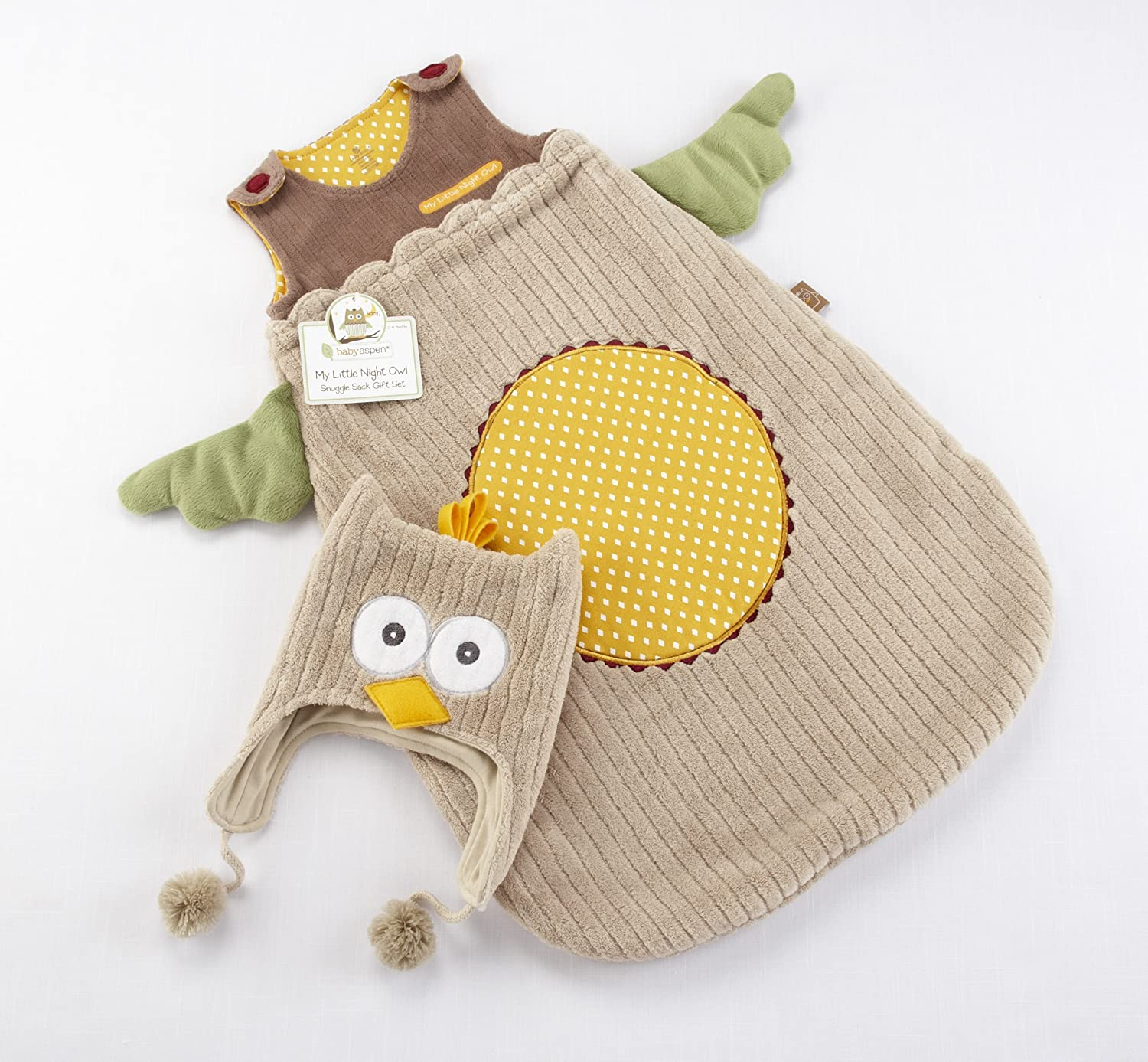 Baby AspenMy Little Night Owl Snuggle Sack and Cap 0-6 months BA15002NA