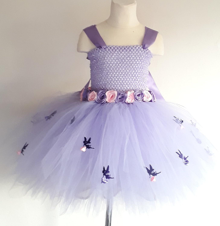 cd6d742e75 Lavender Flower Girl Bridesmaid Flower Fairy Tutu Dress Alternative  Wedding: Amazon.co.uk: Handmade