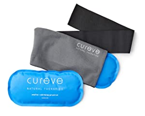Hot and Cold Therapy Gel Pack Compress Two Pack Set with Wrap by Cureve - Reusable Ice Packs with Wrap to Treat Injuries, Aches and Pains on Hip, Knee, Side, Back, Shoulder, Feet and Headaches