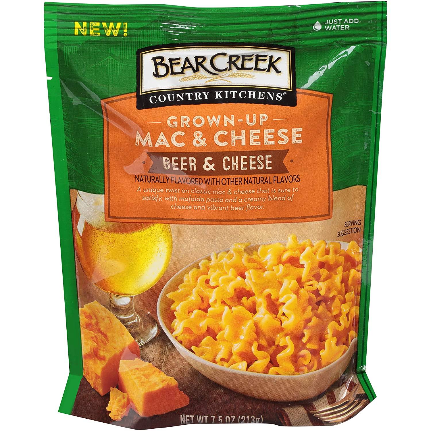 Bear Creek Grown-Up Mac & Cheese, Beer & Cheese, 7.5 Ounce (Pack of 6)