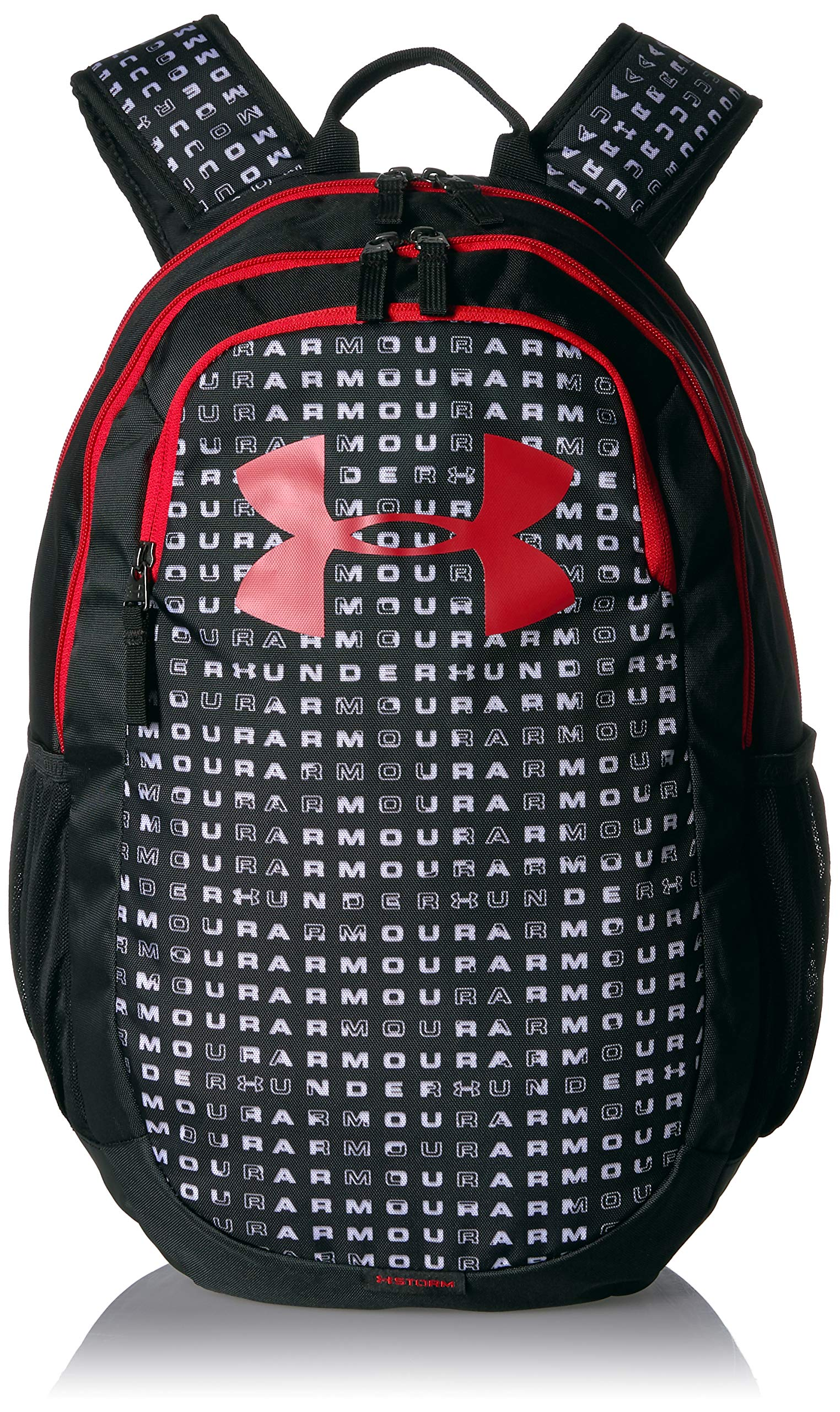 Under Armour Scrimmage Backpack 2.0, Black (002)/Red, One Size Fits All by Under Armour