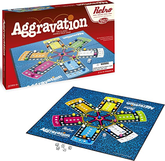 Hasbro Aggravation Game Retro Serie 1989 Edición: Amazon.es: Juguetes y juegos