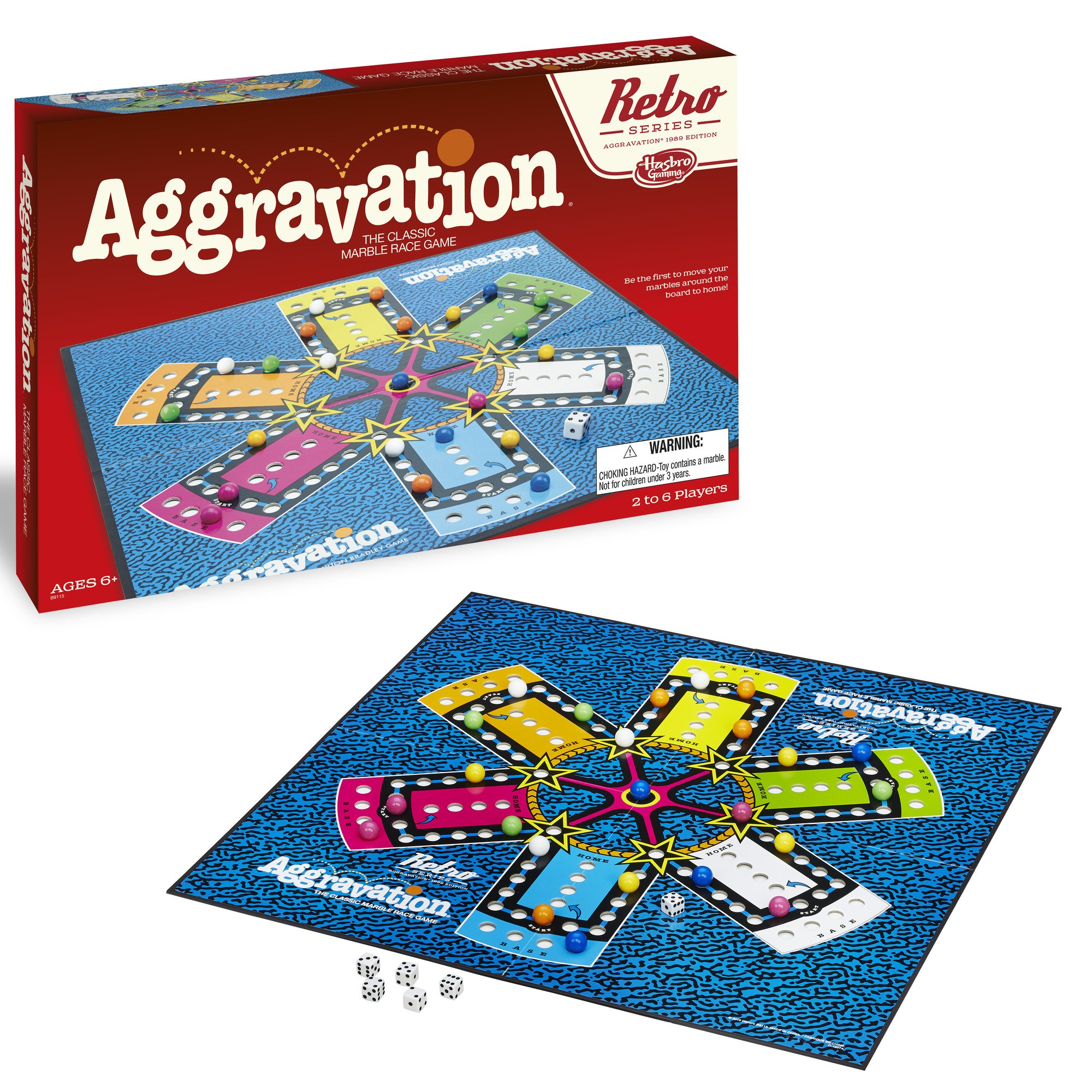 Hasbro Aggravation Game Retro Series 1989 Edition