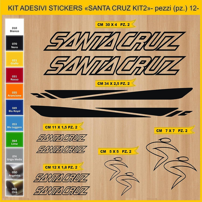 Kit Pegatinas Stickers Bicicleta Santa Cruz -Kit 2-12 Piezas- Bike Cycle Cod. 0892 (070 Nero): Amazon.es: Deportes y aire libre