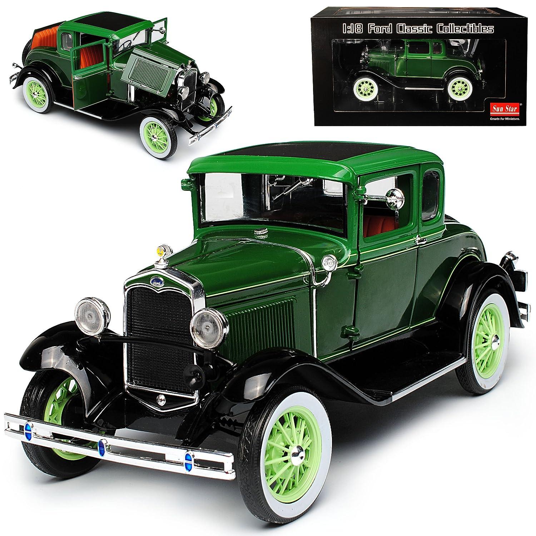 Sun Star Ford Model A Coupe Grün 1928-1931 1 18 Modell Auto B0796GHK4T Motorfahrzeuge Stilvoll und lustig  | Exquisite (mittlere) Verarbeitung