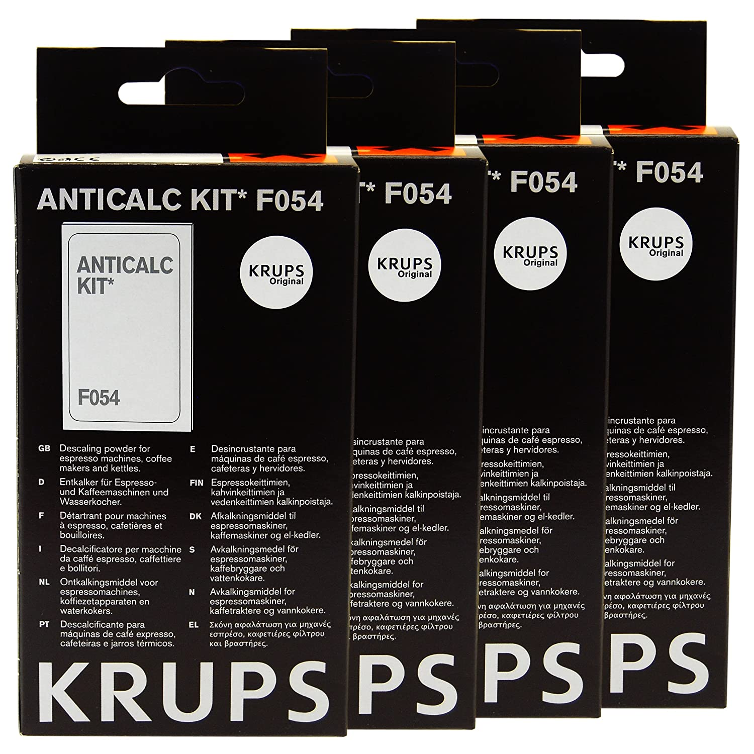 Krups Anticalc Kit* F054 Descaler, Pack of 4