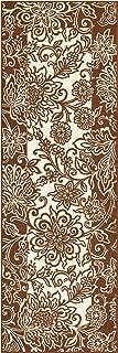 product image for Maples Rugs Adeline Runner Rug Non Slip Hallway Entry Carpet [Made in USA], 2 x 6, Auburn
