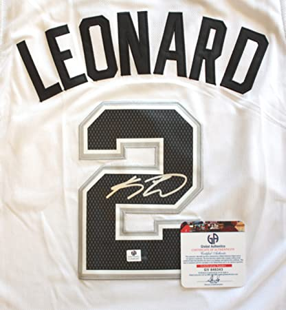 0351f09c1ee Kawhi Leonard San Antonio Spurs Signed Autographed White #2 Jersey COA at  Amazon's Sports Collectibles Store