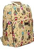 SwankySwans Pembleton Owl Sac à dos avec étui assorti pour iPad/tablette Beige
