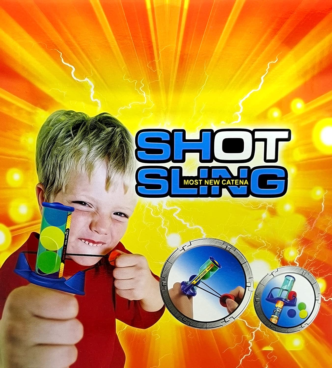 Sling Shot with 3 Balls Tar Practice Outdoors Toy Boys