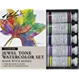 M. Graham Tube Watercolor Paint Jewel Tone 5-Color Set, 1/2-Ounce