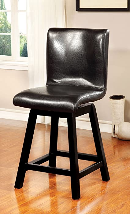 Furniture of America Morley Counter-Height Swivel Chair