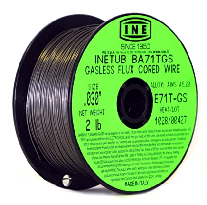 Flux Core Welding Wire >> Inetub Ba71tgs 030 Inch On 2 Pound Spool Carbon Steel Gasless Flux Cored Welding Wire