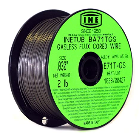 Flux Core Welding Wire >> Inetub Ba71tgs 030 Inch On 2 Pound Spool Carbon Steel Gasless Flux Cored Welding Wire