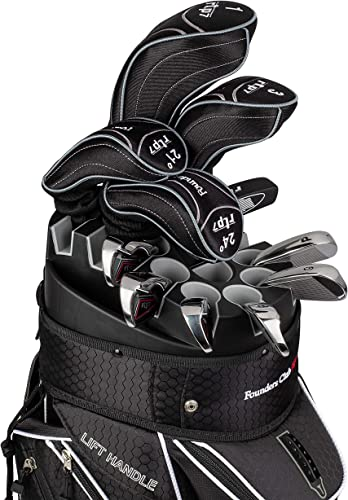 Founders Club RTP7 Men s Golf Club Set with 14 Way Organizer Golf Bag Right Hand Graphite Regular Shafts for Woods and Hybrids Steel Regular Shafts for Irons