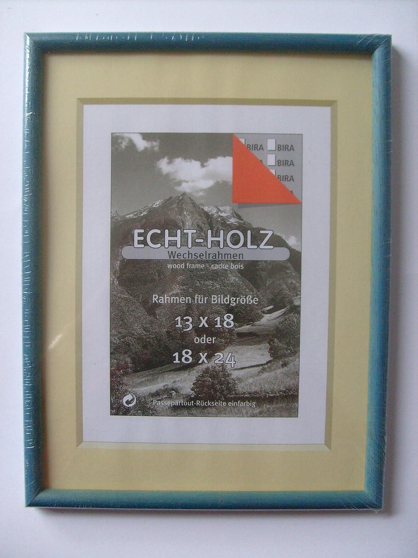 Bilderrahmen Echtholz Wechselrahmen 19 x 25 cm Nr.36: Amazon.de ...