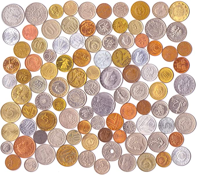Conjunto de Dinero 100 Monedas extranjeras Diferentes colección de Toda la Europa. Monedas de colección, Monedas Antiguas para su álbum de Moneda, Banco de Moneda o los titulares de la Moneda: Amazon.es: