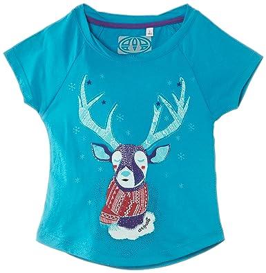 Animal Girls Araylia T-Shirt, Blue (Dark Turquoise), 3 Years (
