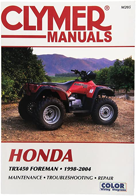 amazon com clymer m205 repair manual automotive rh amazon com honda foreman 450 es service manual honda 450 es repair manual