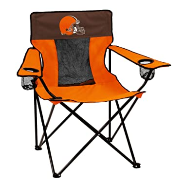 Logo Brands NFL Folding Elite Chair with Mesh Back and Carry Bag