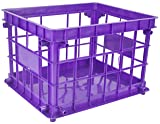 Storex Standard Letter/Legal File Crate, 17.25 x