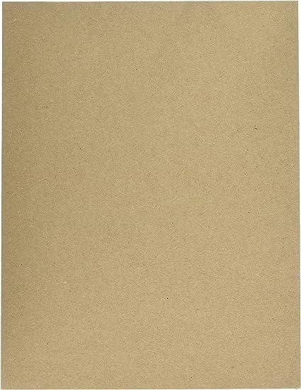 10 11 x 17 Brown Scrapbooking Sheets Chipboard Cardboard Sheets Medium Weight -