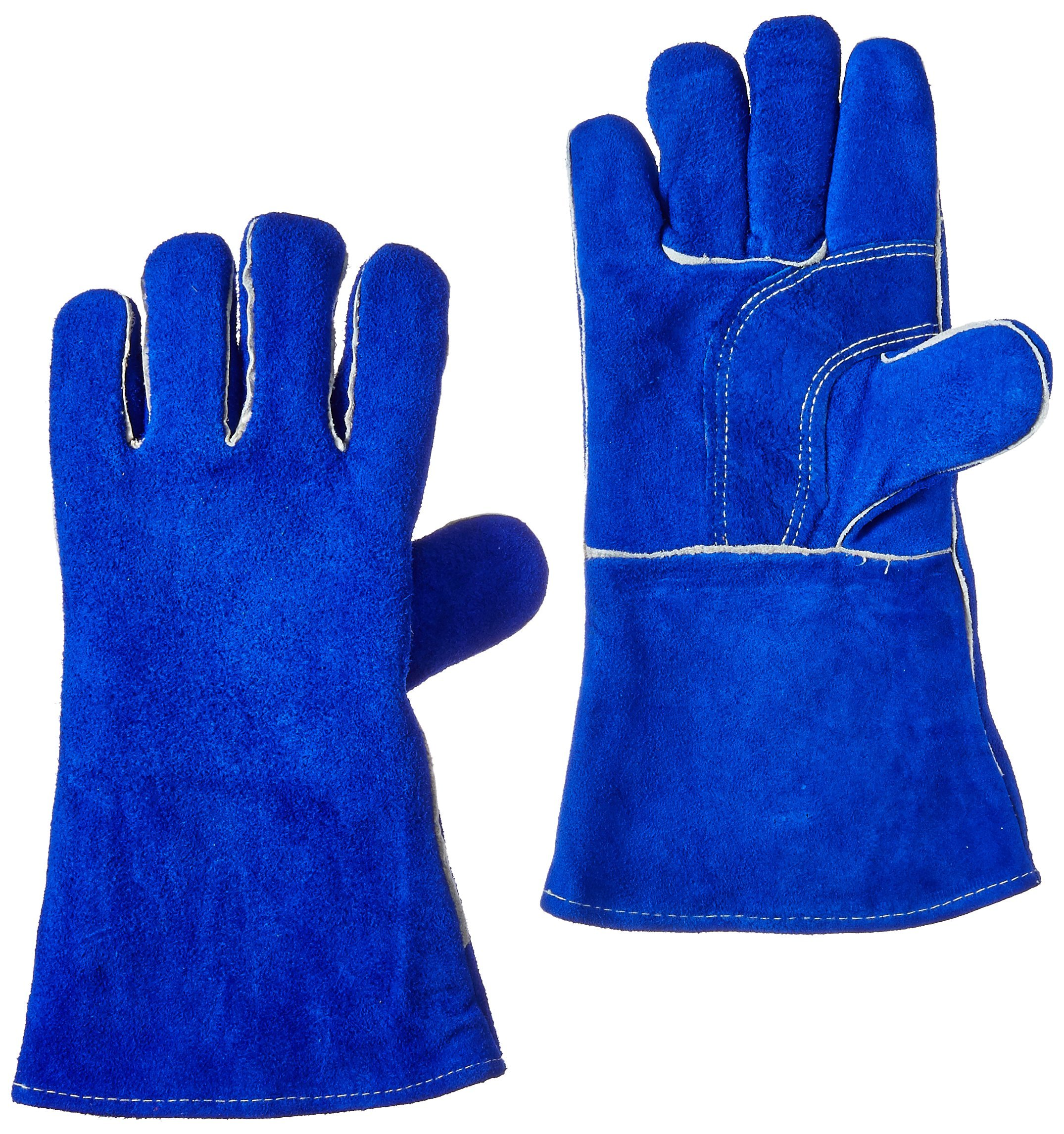 US Forge 400 Welding Gloves Lined Leather, Blue - 14'' by US Forge
