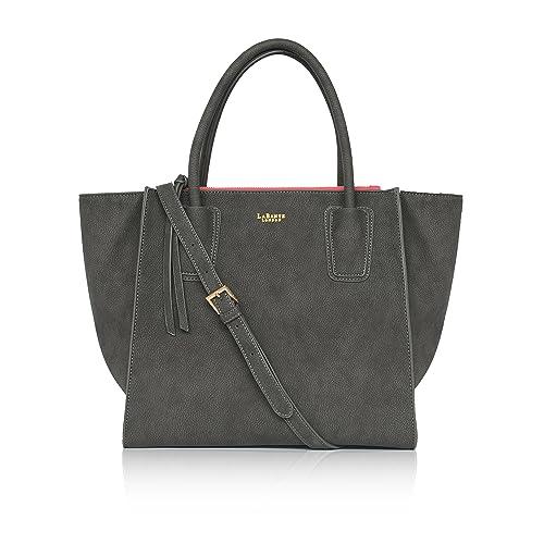 630e36618c79 LaBante - Tote Bag Women - Demi- Grey Handbag Work Bag Leather Handbags  Women