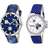 Mikado Analogue Multicolordial Women's & Men's Couple Watch - Cpl12