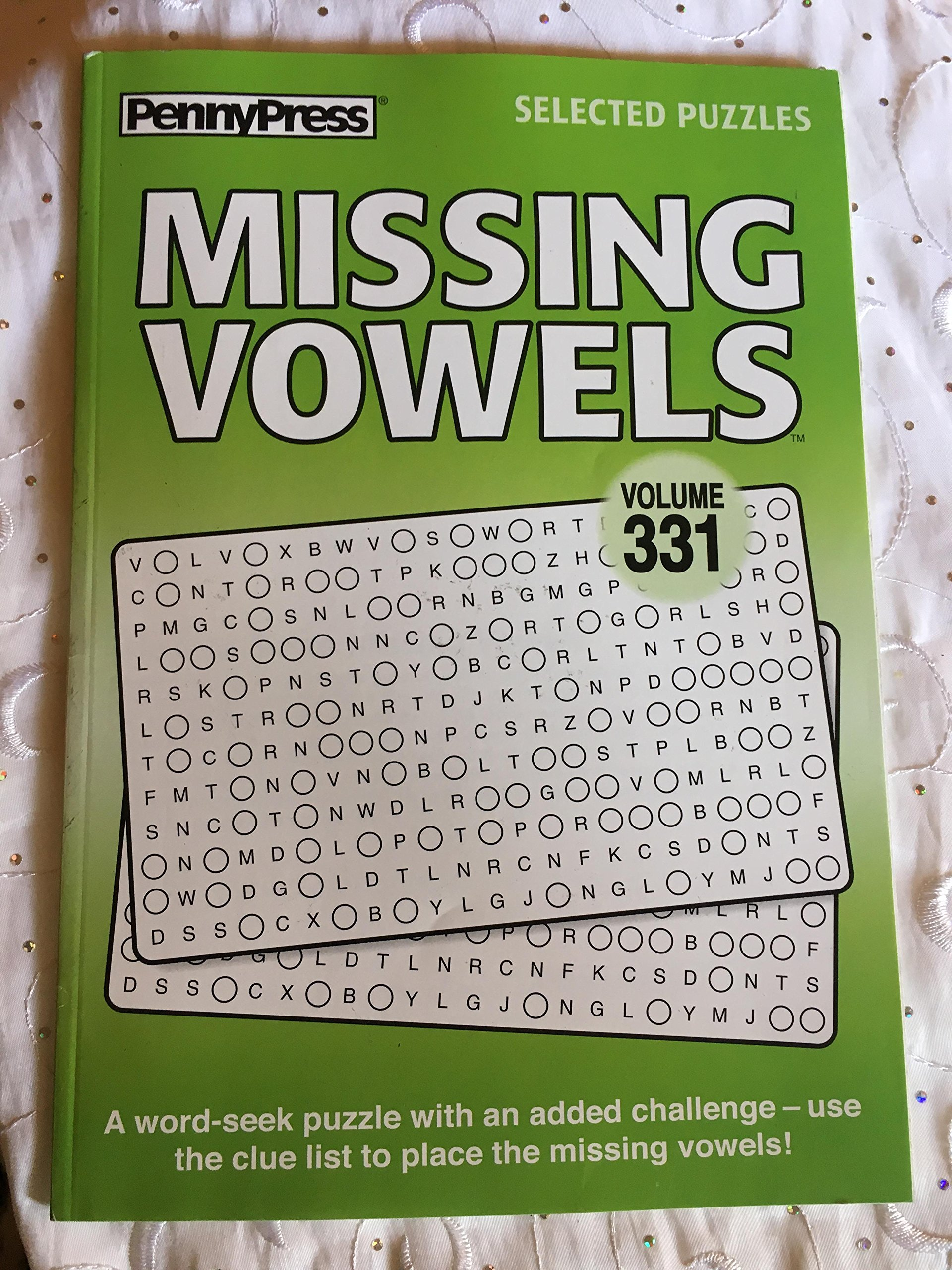 Read Online Penny Press Selected Puzzles Missing Vowels *Volume 331* Special Collection pdf epub