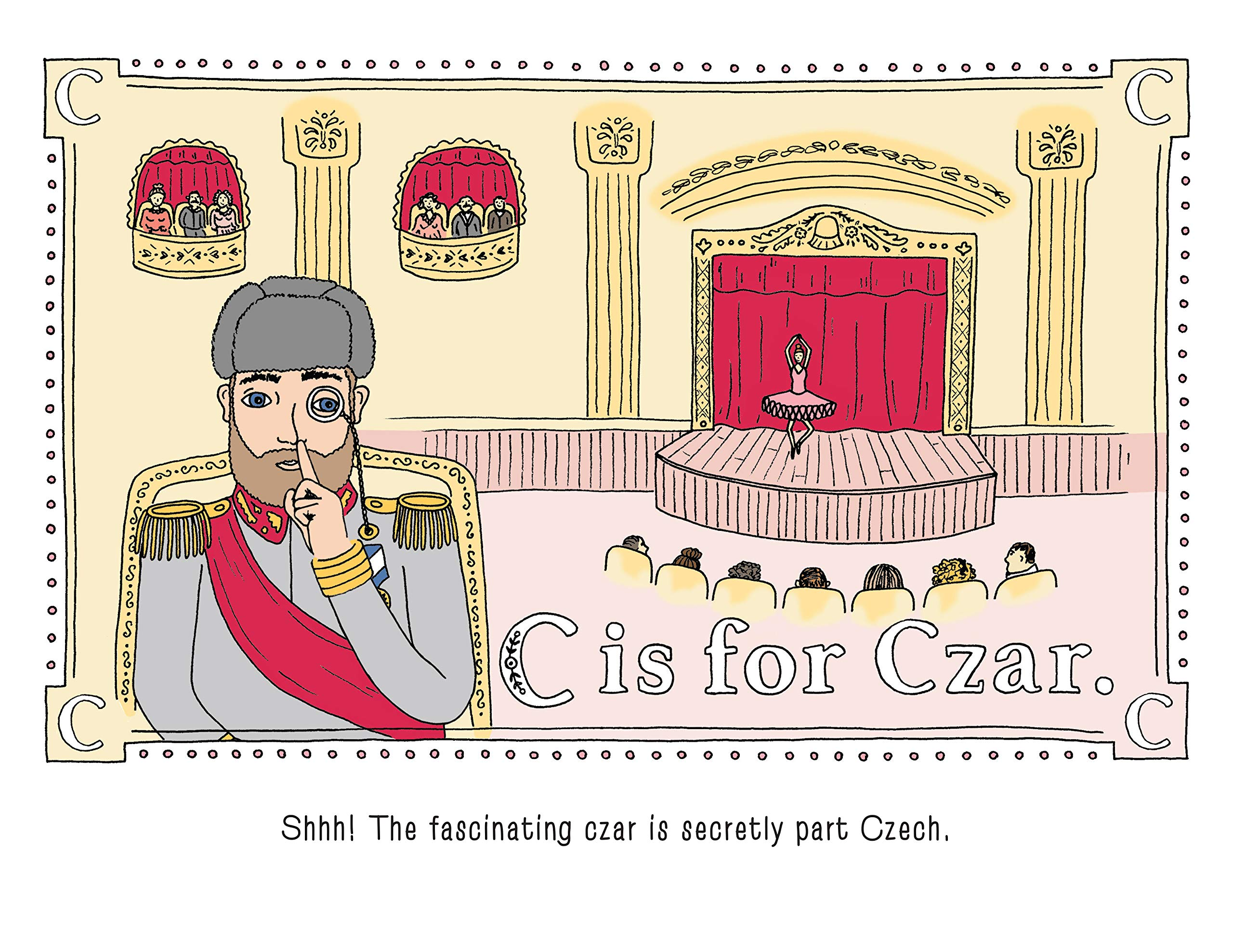 C is for Czar page