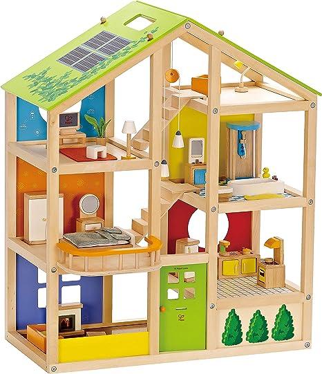 Hape Vier-Jahreszeiten-Haus Puppenhaus Spielhaus NEU