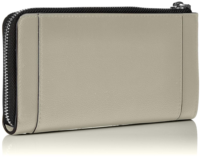 Calvin Klein - Metropolitan Large Zip Around S, Carteras Mujer, Gris (Cement/Off White), 3x10x20 cm (B x H T): Amazon.es: Zapatos y complementos