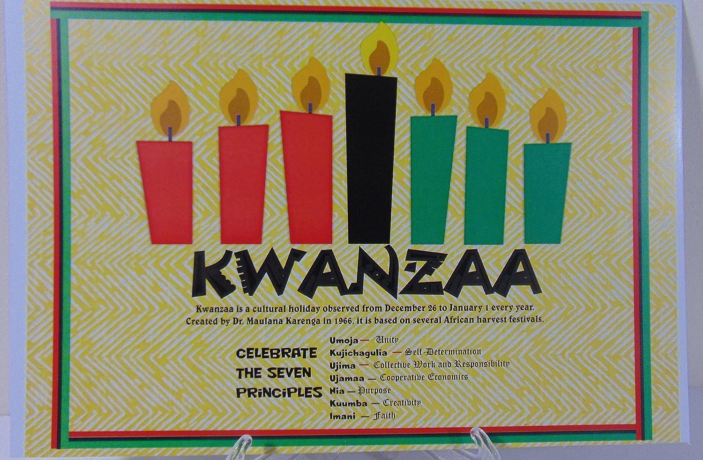 Amazon com kwanzaa poster seven 7 principles of kwanzaa kwanza poster style 4 everything else